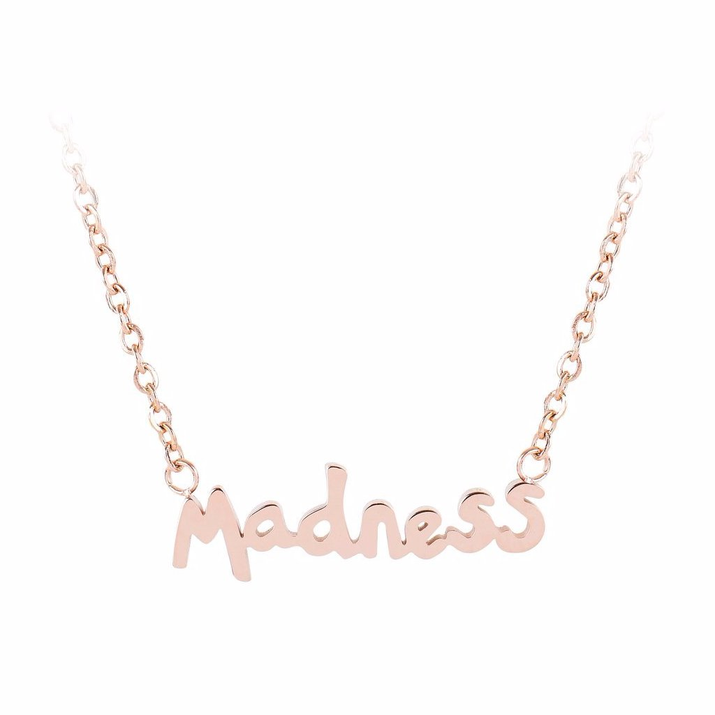 Madness Word Necklace by ESA EVANS on OOSTOR.com