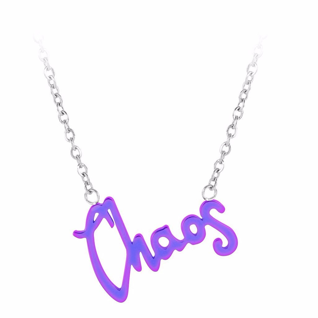 Chaos Word Necklace by ESA EVANS on OOSTOR.com