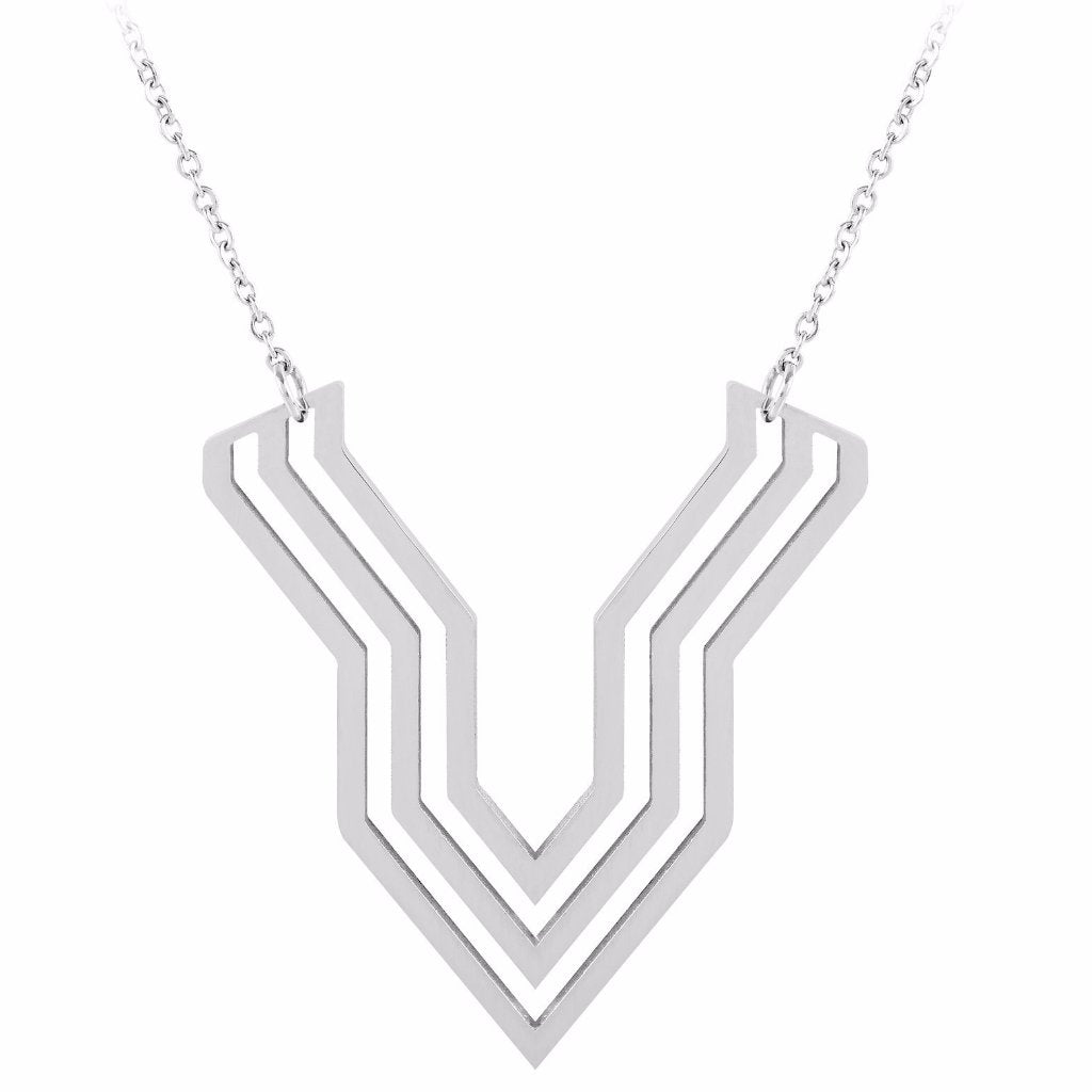 Chevron Deco Pendant by ESA EVANS on OOSTOR.com
