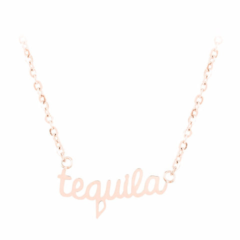 Tequila Word Necklace by ESA EVANS on OOSTOR.com