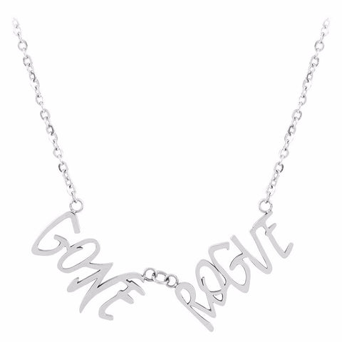 Gone Rogue Word Necklace by ESA EVANS on OOSTOR.com
