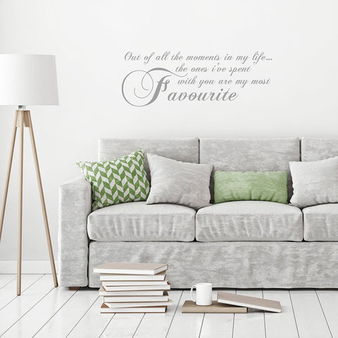 Favourite Moments Wall Sticker