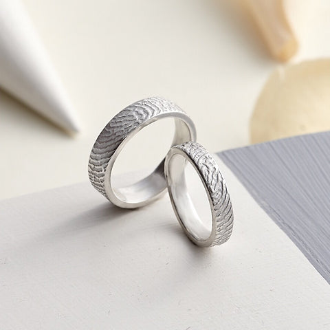 Fingerprint Ring by Oliver Twist Designs