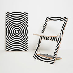 Folding Chair Fläpps – Op Art Circle by Ambivalenz on OOSTOR.com