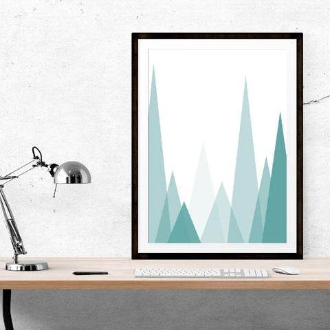 Turquoise Mountain Inspirational Prints by The Native State