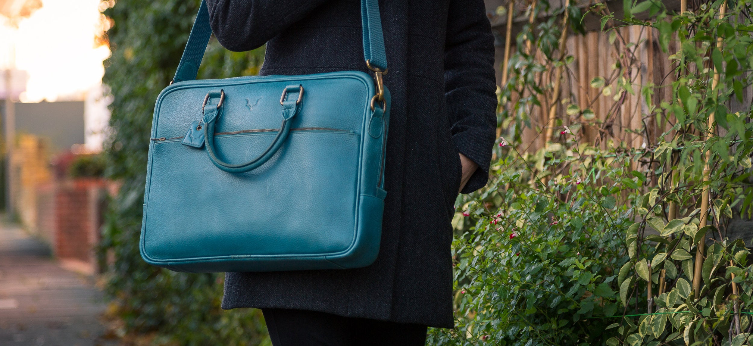 Fox Briefcase / Messenger Bag - Signature Blue