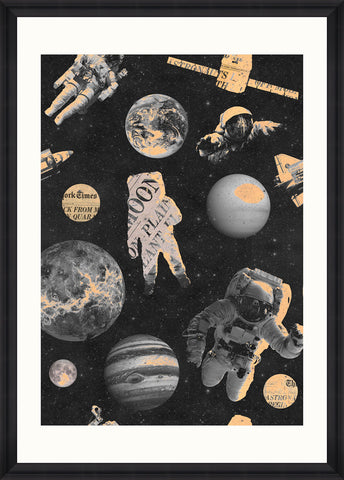 Astronauts Art Print by Mind The Gap