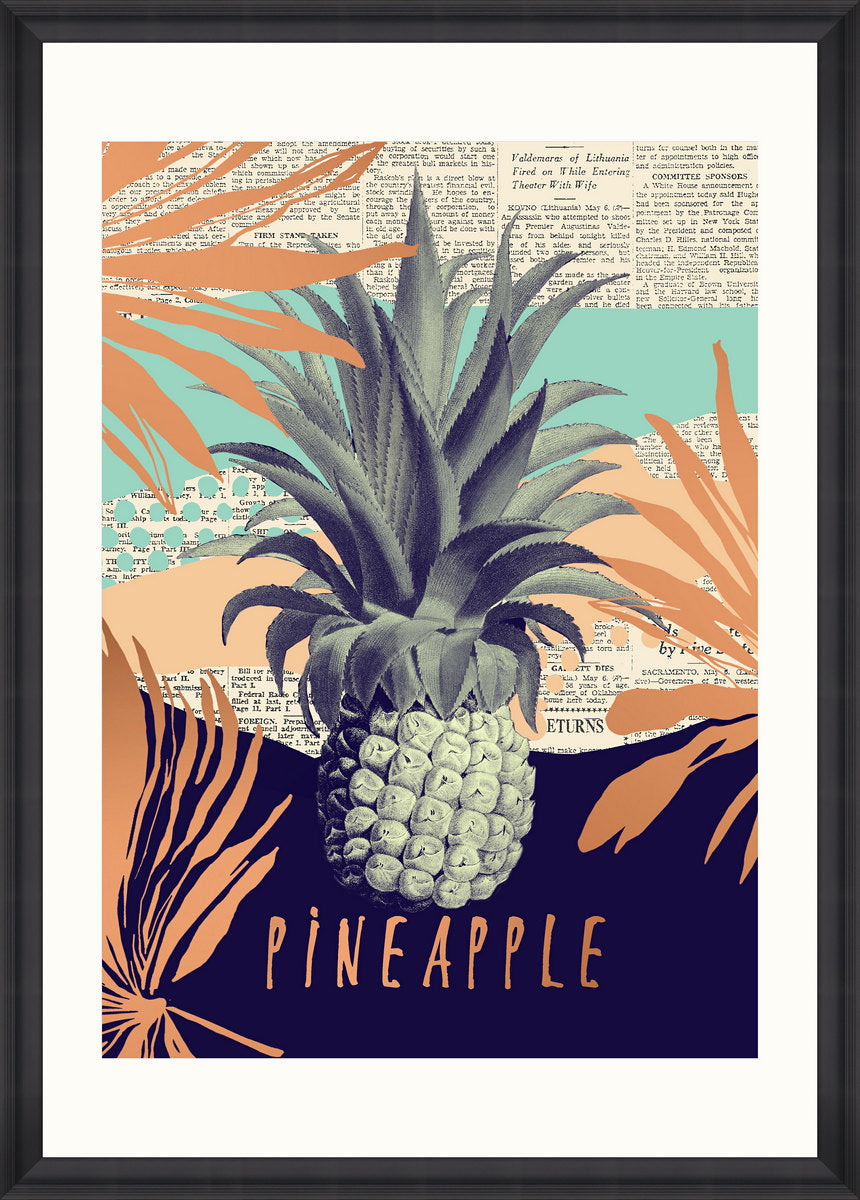 Be Pineapple Art Print by Pad Home on OOSTOR.com