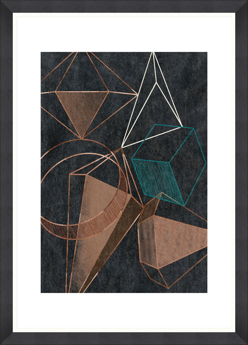 Copper Geometry Art Print by Mind The Gap