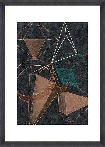 Copper Geometry Art Print by Pad Home on OOSTOR.com