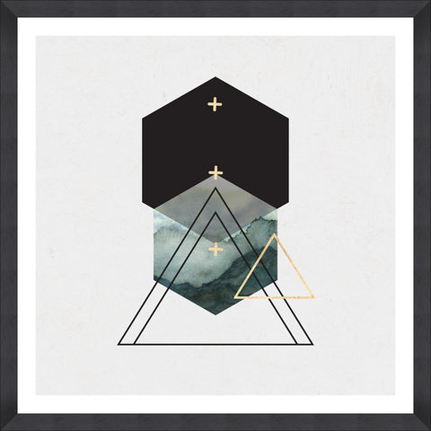 Triangles II Art Print by Mind The Gap