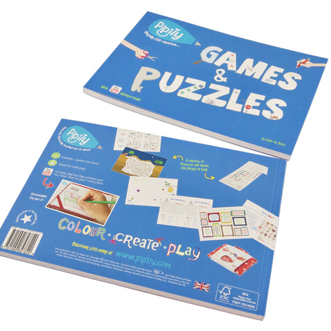 Pipity Travel Activity Book - Games & Puzzles