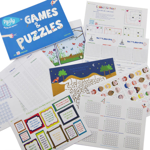 Games & Puzzles Travel Activity Book