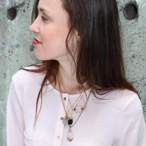 Tourmaline Necklace by Crystal & Sage on OOSTOR.com
