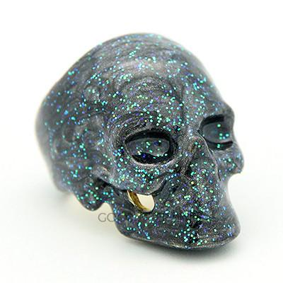 Galactic Earth Skull Ring