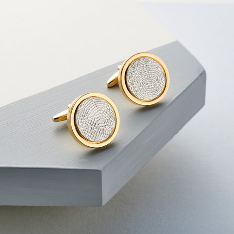 Gold Edition Fingerprint Cufflinks by Oliver Twist Designs