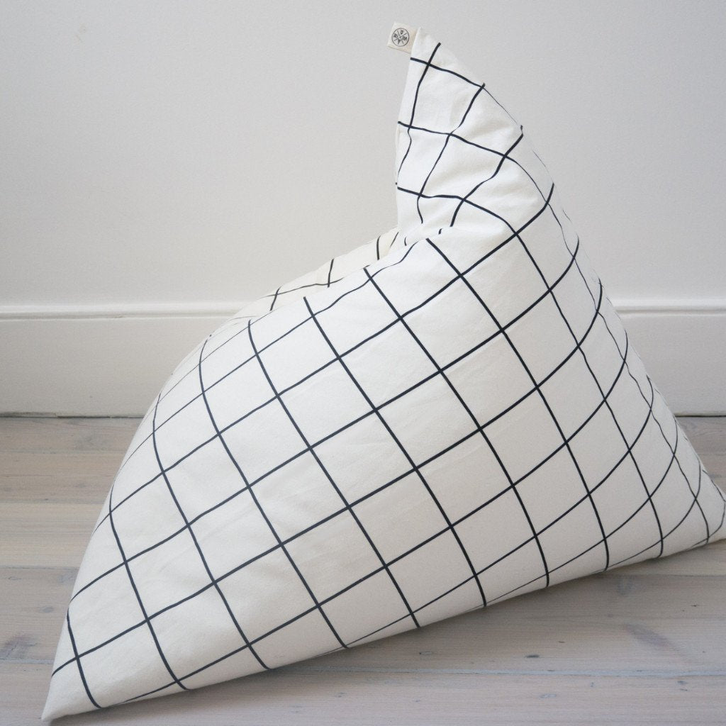GRID PYRAMID BEAN BAG by Wildfire Teepees on OOSTOR.com