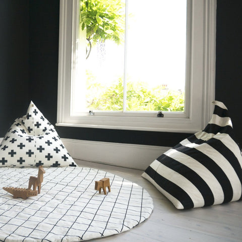 STRIPE PYRAMID BEAN BAG by Wildfire Teepees on OOSTOR.com
