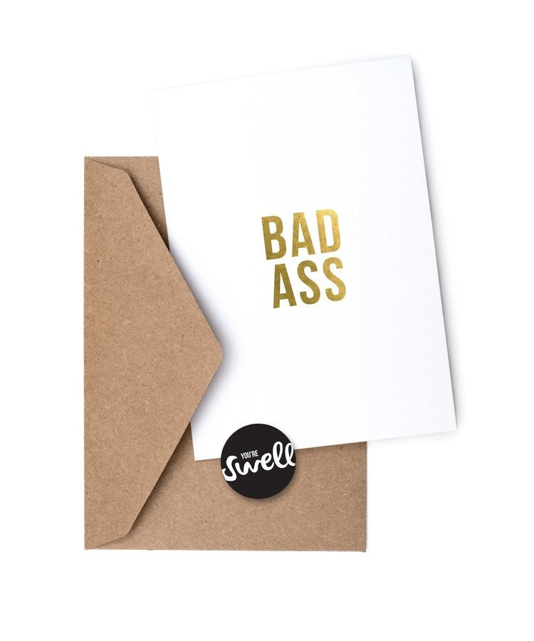Bad Ass Card by Swell Made Co on OOSTOR.com