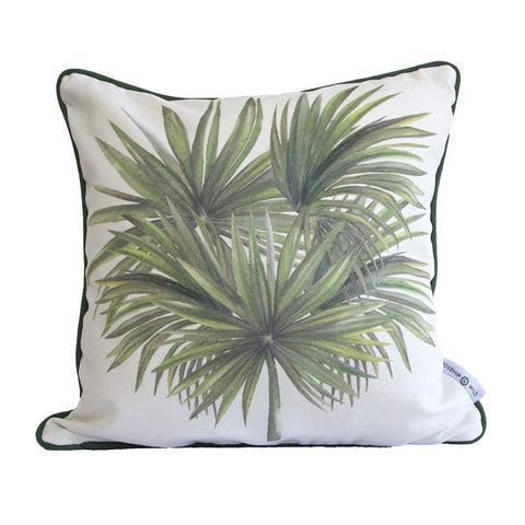 Silver Thatch Palm Tree Cushion by Rosehip & Wild on OOSTOR.com