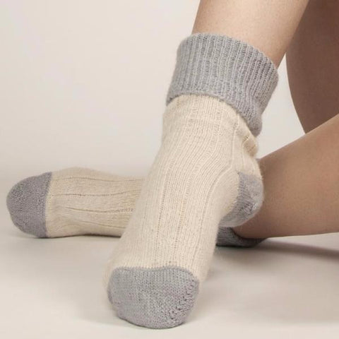 Hazel Alpaca & Merino Lounge Socks by Flock By Nature on OOSTOR.com