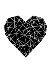 Black Heart // Geometric Print