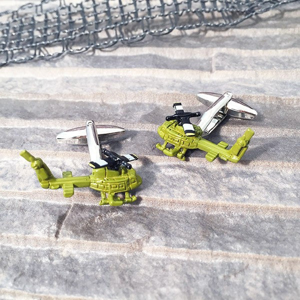 Helicopter Cufflinks by SOLO on OOSTOR.com