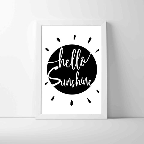 Hello Sunshine Print by Charlie Doodle on OOSTOR.com