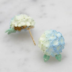 Hydrangea Blue Earrings