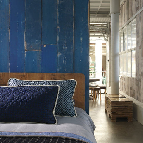 Blue Scrapwood Wallpaper by Pad Home on OOSTOR.com