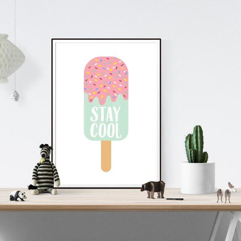 Stay Cool Wall Art Print by The Native State