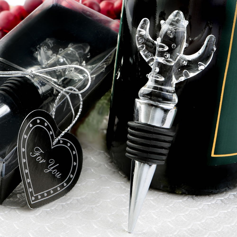 Crystal Cactus Bottle Stopper by Sole Favors on OOSTOR.com