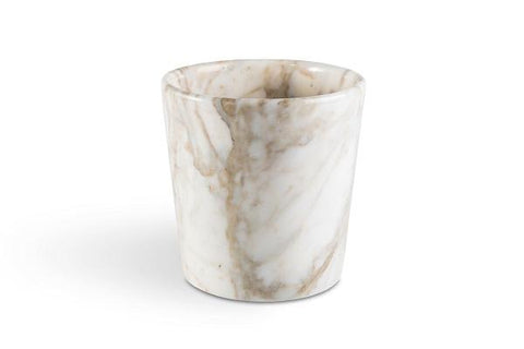 Rounded Edge Vase in Paonazzo Marble