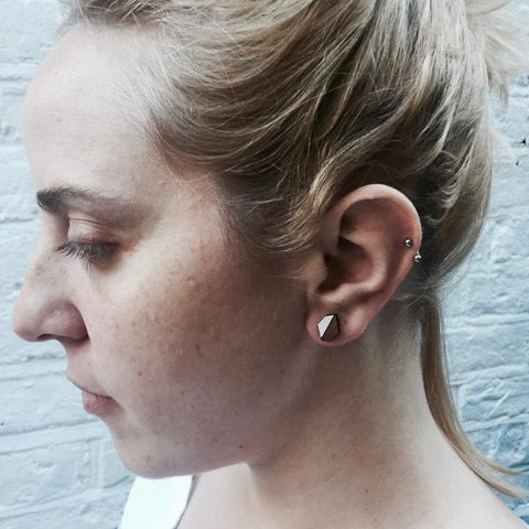 The Evelyn - Just Rose Stud Earrings by form.london on OOSTOR.com