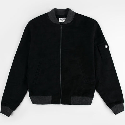 Midnight Bomber Jacket - Black/Grey