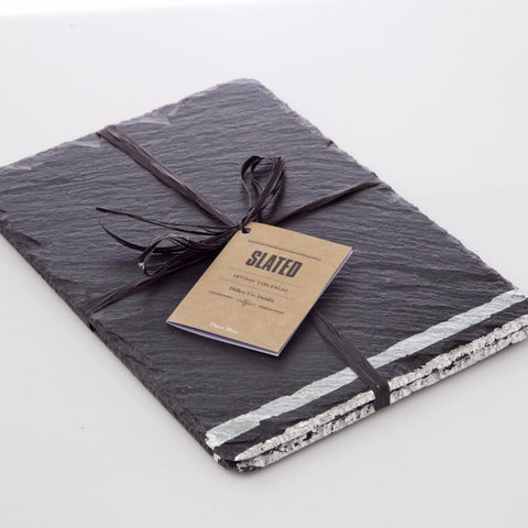 Silver Leaf Slate Place Mats by Slated on OOSTOR.com