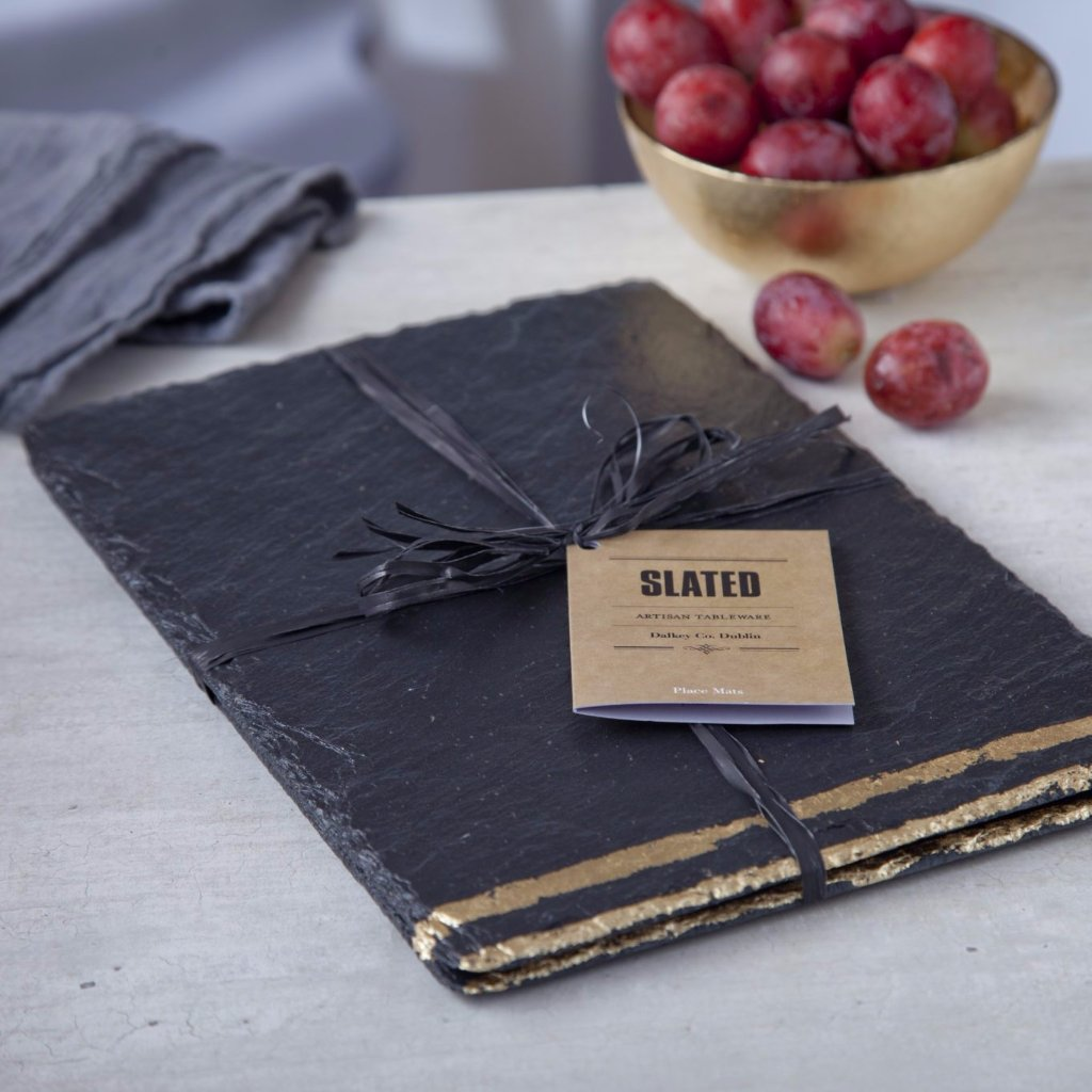 Gold Leaf Slate Place Mats by Slated on OOSTOR.com