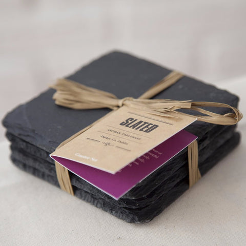 Square Slate Coasters by Slated on OOSTOR.com