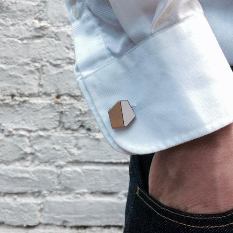 The Jonathan - Just Rose Cufflinks by form.london on OOSTOR.com