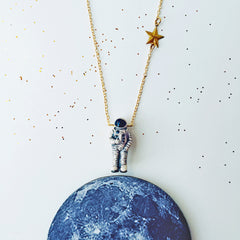 I Just Need Some Space Man, Astronaut Necklace by Eclectic Eccentricity on OOSTOR.com