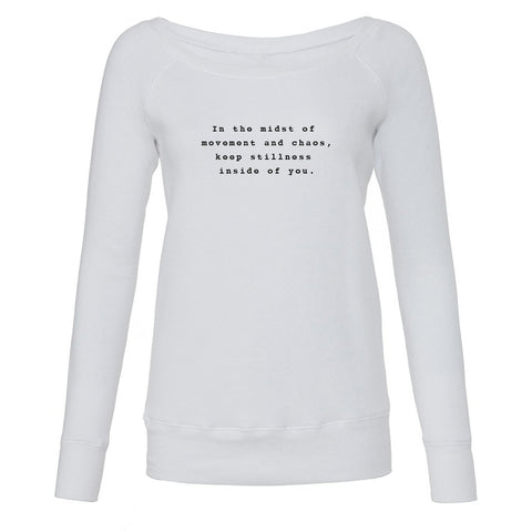 In the Midst of Chaos White Slouchy Sweatshirt