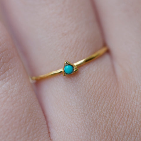 Gold Vermeil Ring With Turquoise by Jasmine White on OOSTOR.com