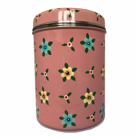 Dusty Pink Floral Storage Jar by Jasmine White on OOSTOR.com
