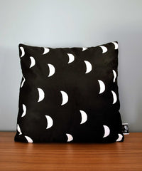 Moons Velveteen Throw Pillow by Swell Made Co on OOSTOR.com