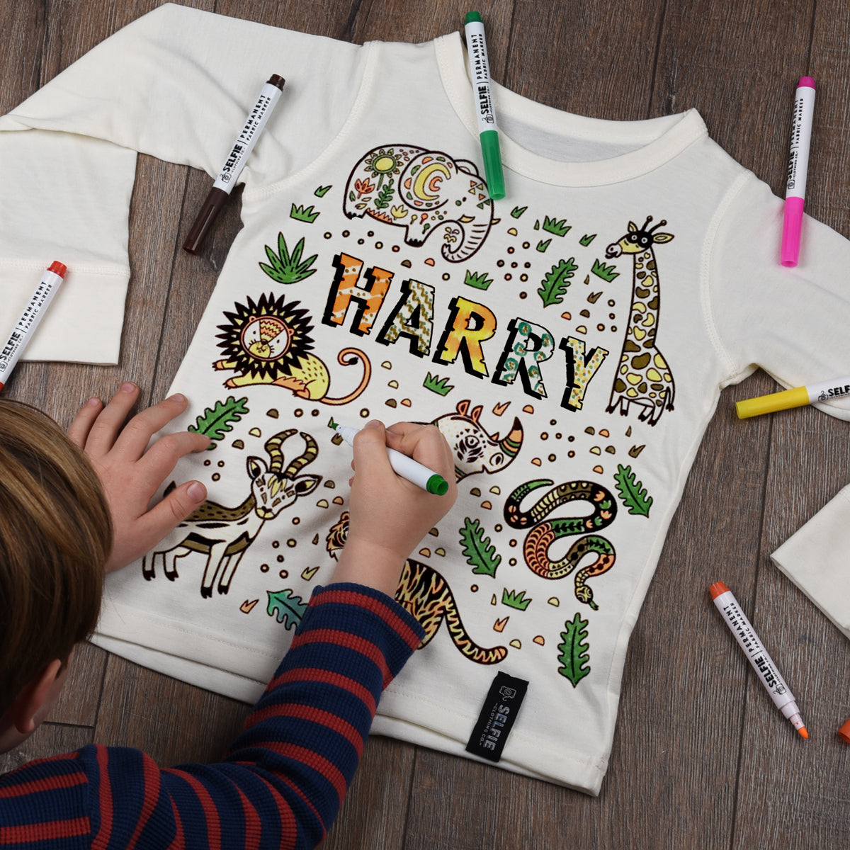 Personalised Jungle Colour In Top