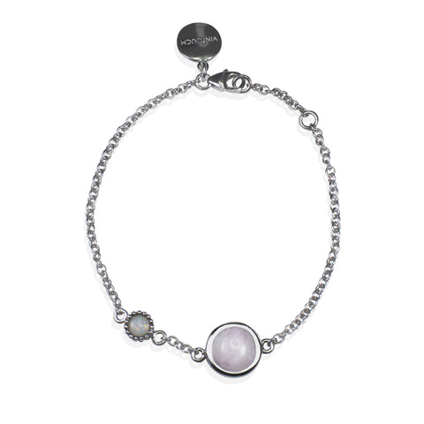 Satellites Kunzite & Opal Silver Bracelet by Vintouch Jewels on OOSTOR.com