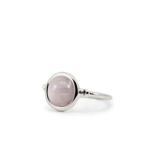 Satellites Kunzite Silver Ring by Vintouch Jewels on OOSTOR.com