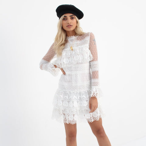 White Barcelona Dress by Wired Angel Ltd on OOSTOR.com