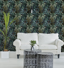 Lush Succulents Wallpaper by Pad Home on OOSTOR.com