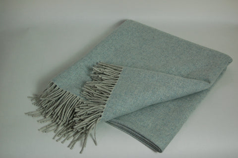 Lambswool Throw - Blissful Blue